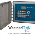 Smart irrigation controller device in a gray case