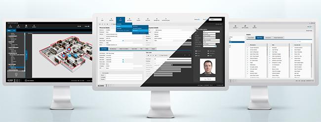 Screenshots of access control software