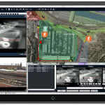 Screenshot of outdoor security video analytics
