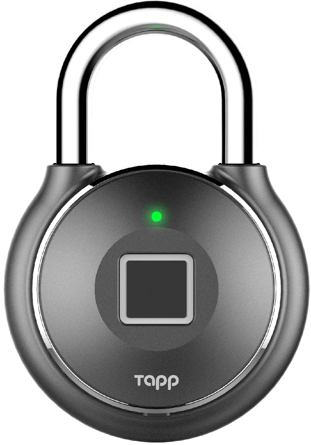 Shiny grey smart padlock