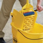 Yellow mop bucket and wringer