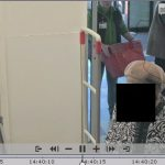 Axxon Next video image of a woman with a black square covering her face