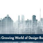 Design-build publication cover with city skyline