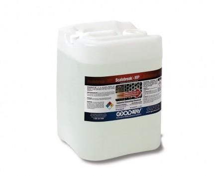 Square jug of descaling solution