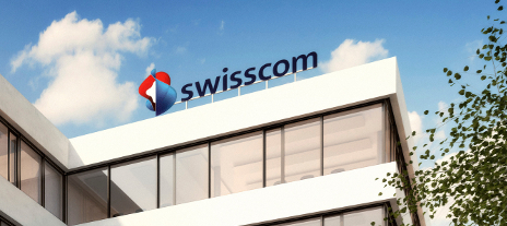 Swisscom logo on building