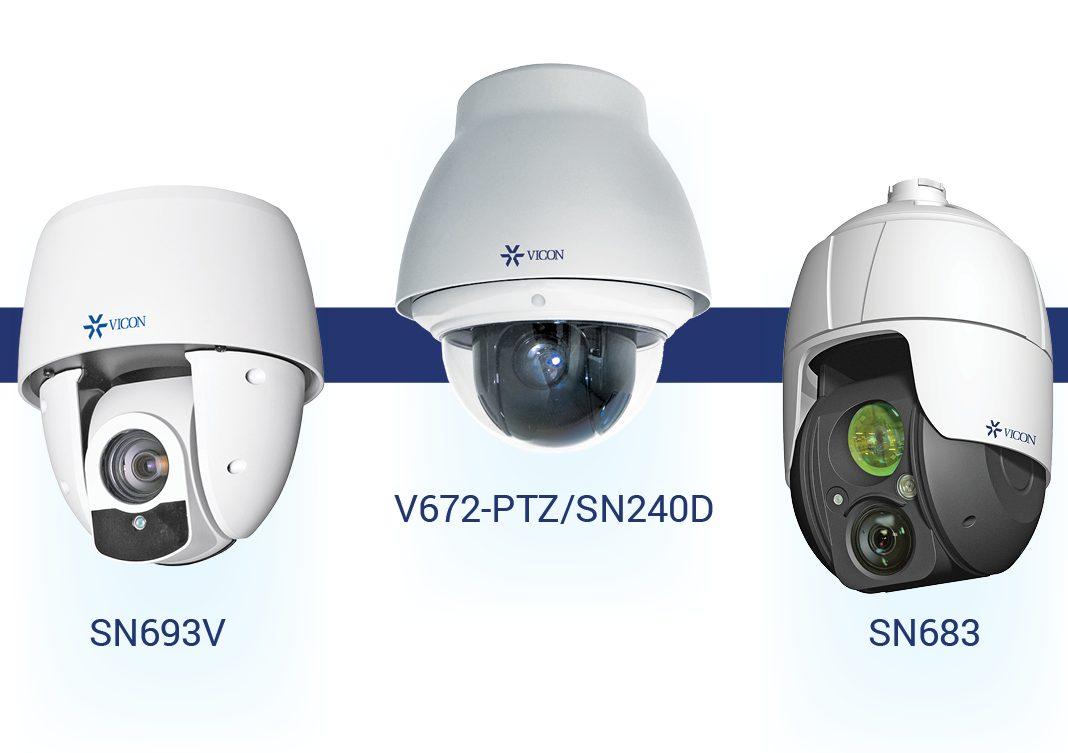 3 PTZ cameras