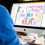 Map of rooms in a building in Optimize FM CMMS software