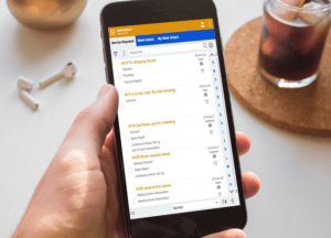 Service requests on smartphone through Optimize FM CMMS software