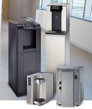 4 models of Culligan Bottle-Free Water Coolers