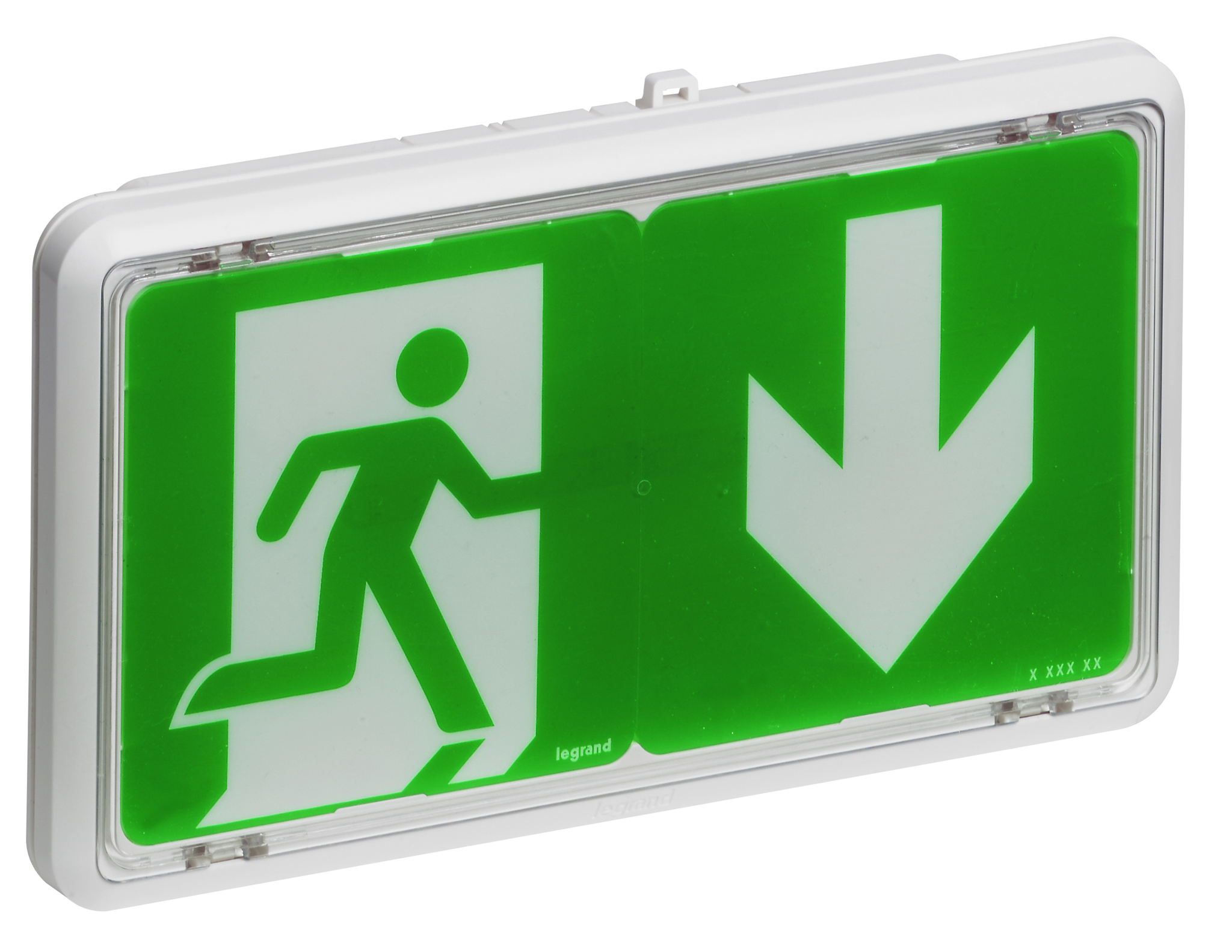 Green Legrand emergency lighting