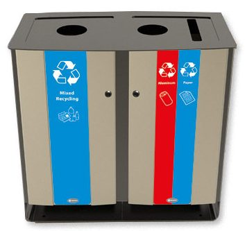 Glasdon 48-gallon Electra stainless steel recycling bin