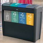 Glasdon's four-aperture Nexus Transform recycling station