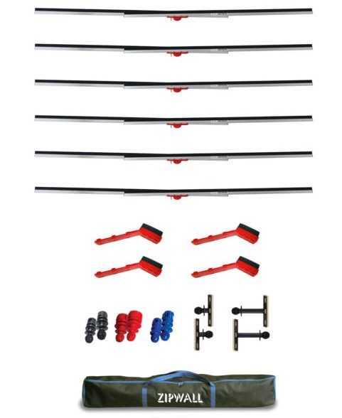 Components of the ZipWall Span Kit