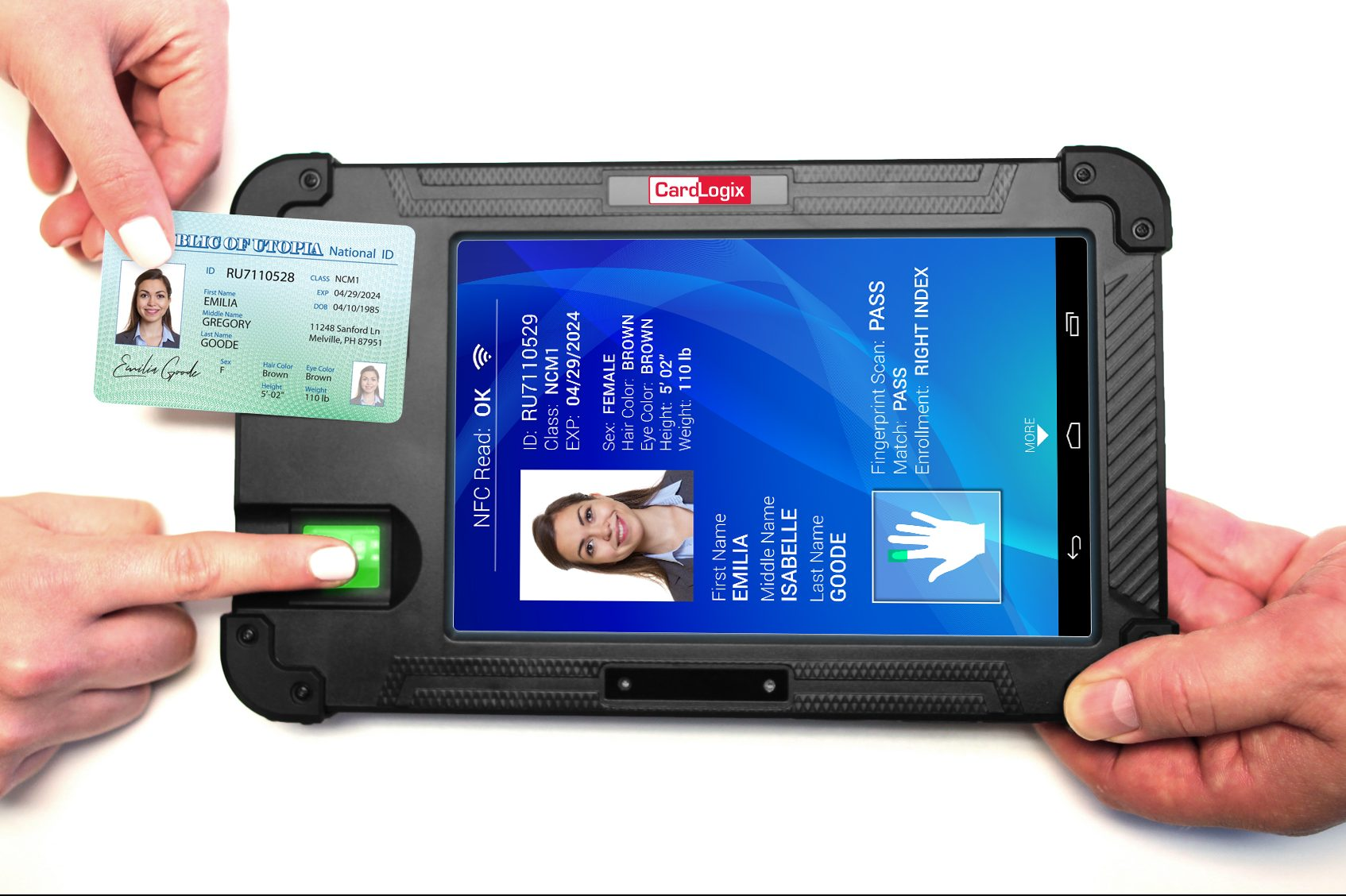 BIOSID handheld biometric and card ID solution by CardLogix