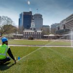 BrightView landscaping services at Independence Mall