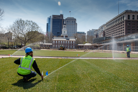 BrightView gives Independence Mall a landscaping makeover