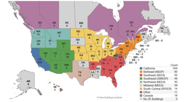 NBI map of zero-energy buildings
