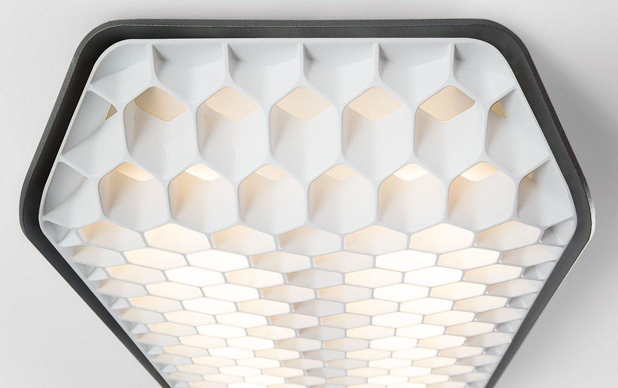 Modular Lighting Instruments' honeycomb-shaped Vaeder LED fixture