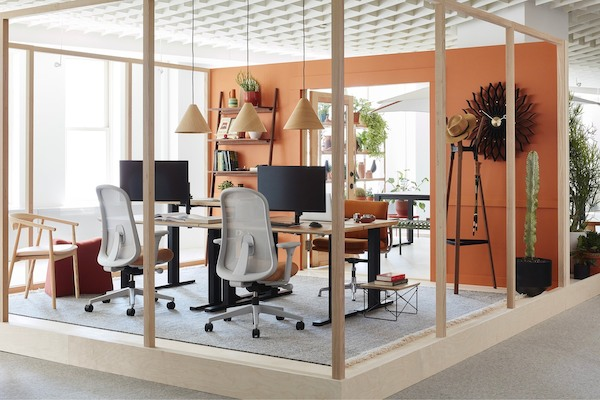 Showcase of Herman Miller Group's collection of furnishings brands