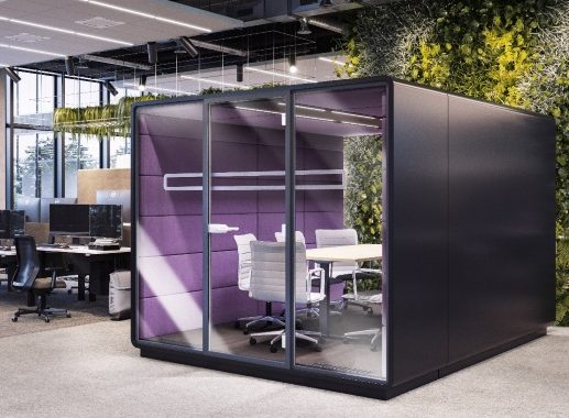 Mikomax Hush Meet L acoustic pod meeting room for 10