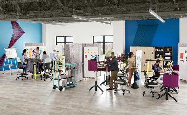 Steelcase Flex Collection of adaptable collaborative furniture
