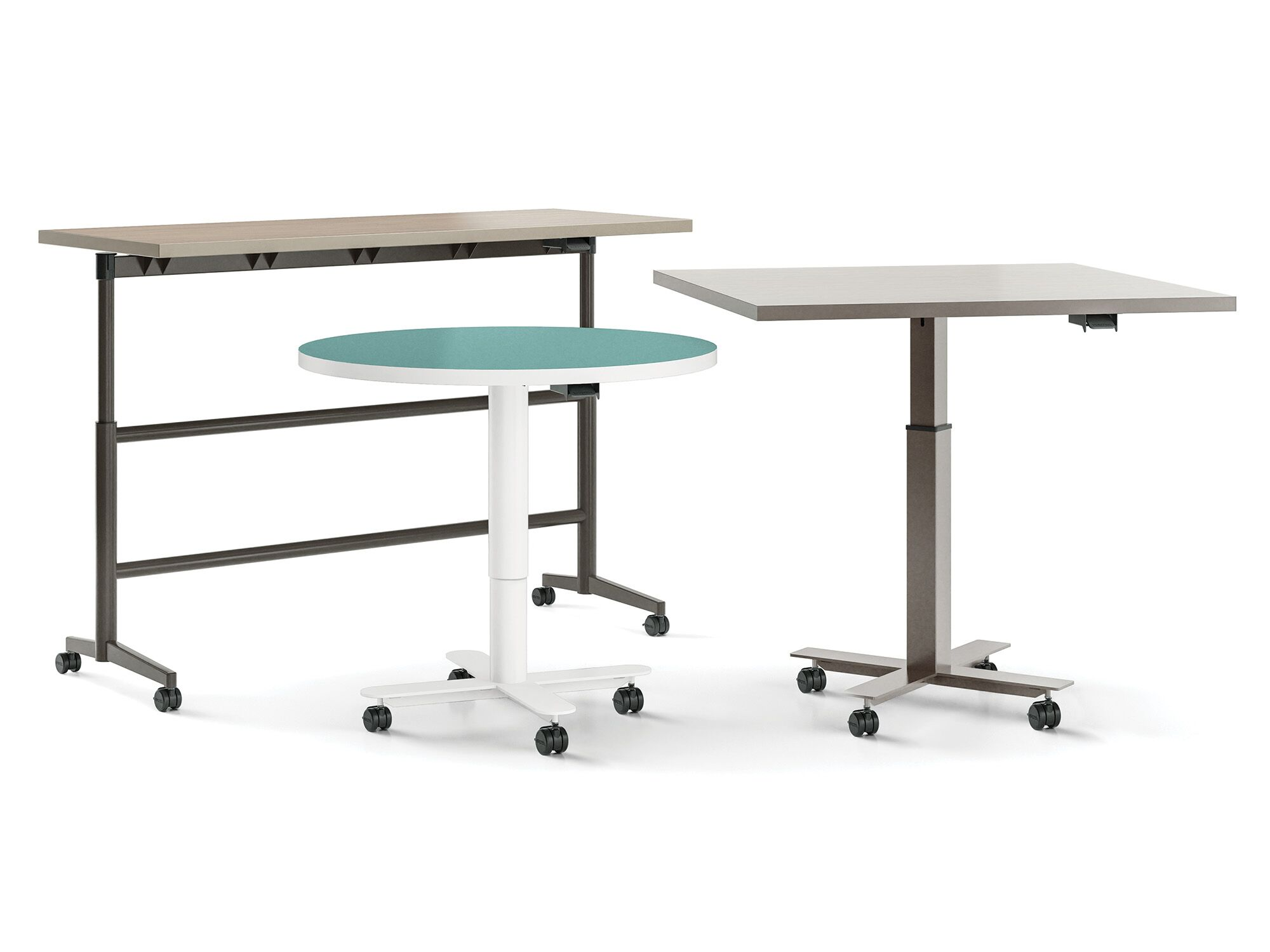 3 models of Versteel Sky adjustable-height tables
