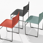 3 chairs in Arpers Stacy collection of stackable seminar chairs