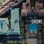 Aerial view of rooftops via DroneBase Insights drone inspection software