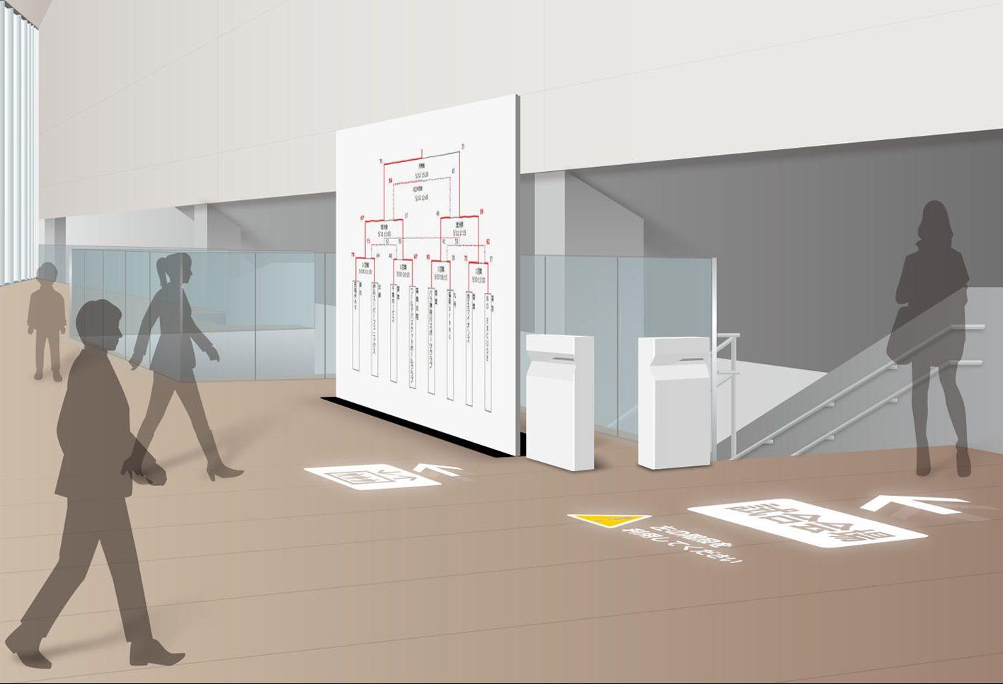 Mitsubishi Electric digital sign technology trial simulation