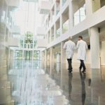 PPG Aquapon WB EP epoxy coating on a health-care facility floor
