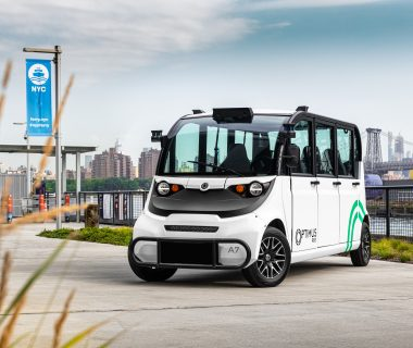 Optimus Ride self-driving vehicle with Velodyne lidar sensors