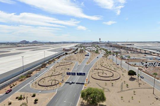 Low-irrigation landscape at Phoenix airport