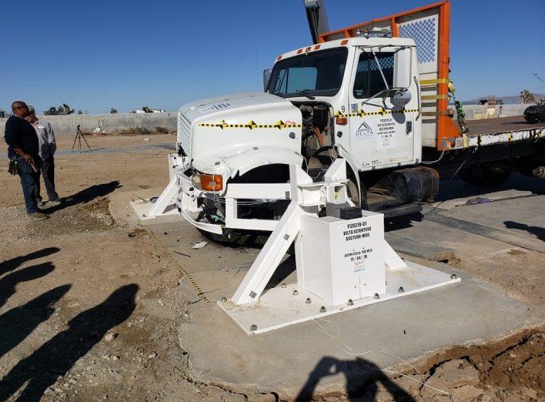 Delta Scientific DSC7090 beam barrier crash test