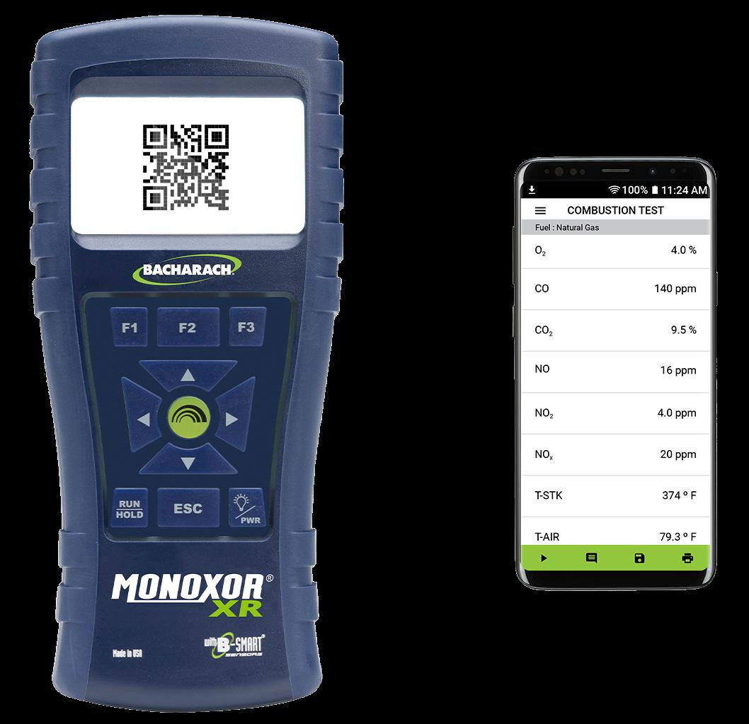 Bacharach Monoxor XR handheld exhaust gas analyzer