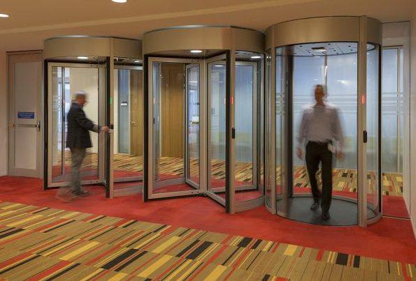 Boon Edam's Tourlock 180 high-security revolving doors