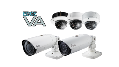 IDIS Edge VA bullet and dome cameras featuring on-board analytics