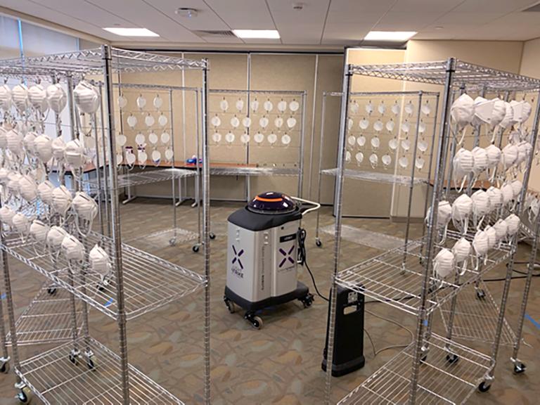 Disinfection protocol for N95 masks developed by United Hospital Center, WV, using Xenex LightStrike robot