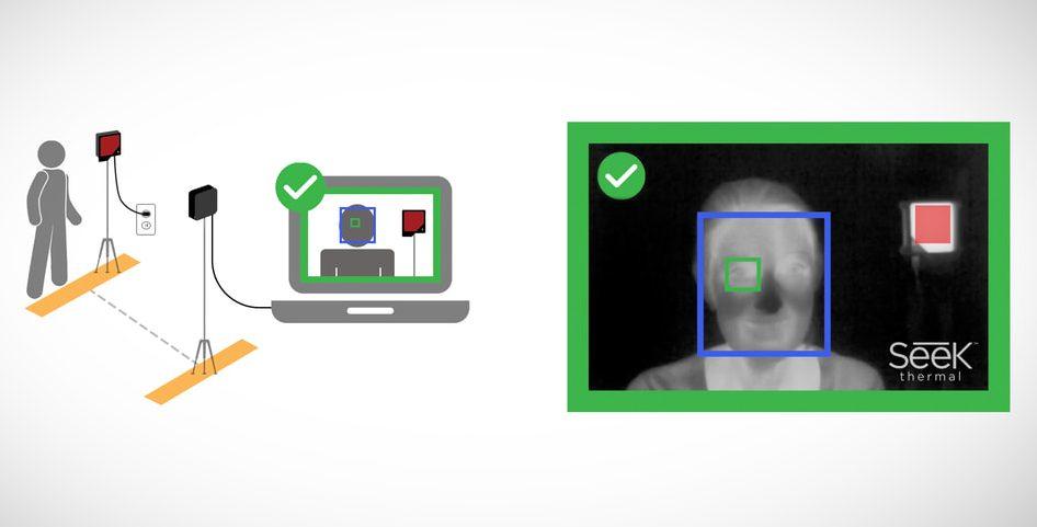 Seek Thermal's Seek Scan automated thermal scan system enables social distancing while screening