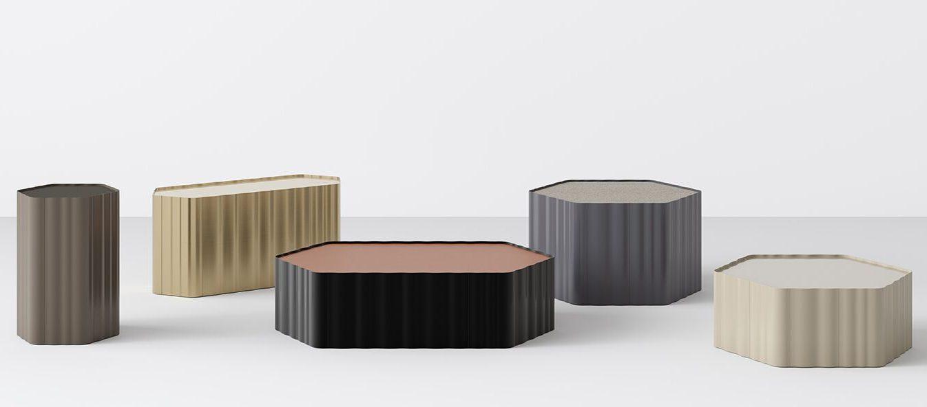 Teknion's Studio TK Freehand multipurpose occasional tables