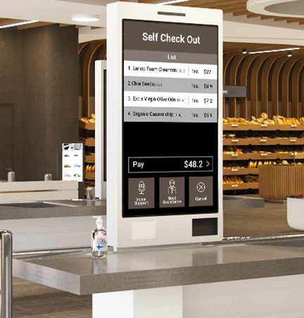 LG contactless interactive solutions digital signage