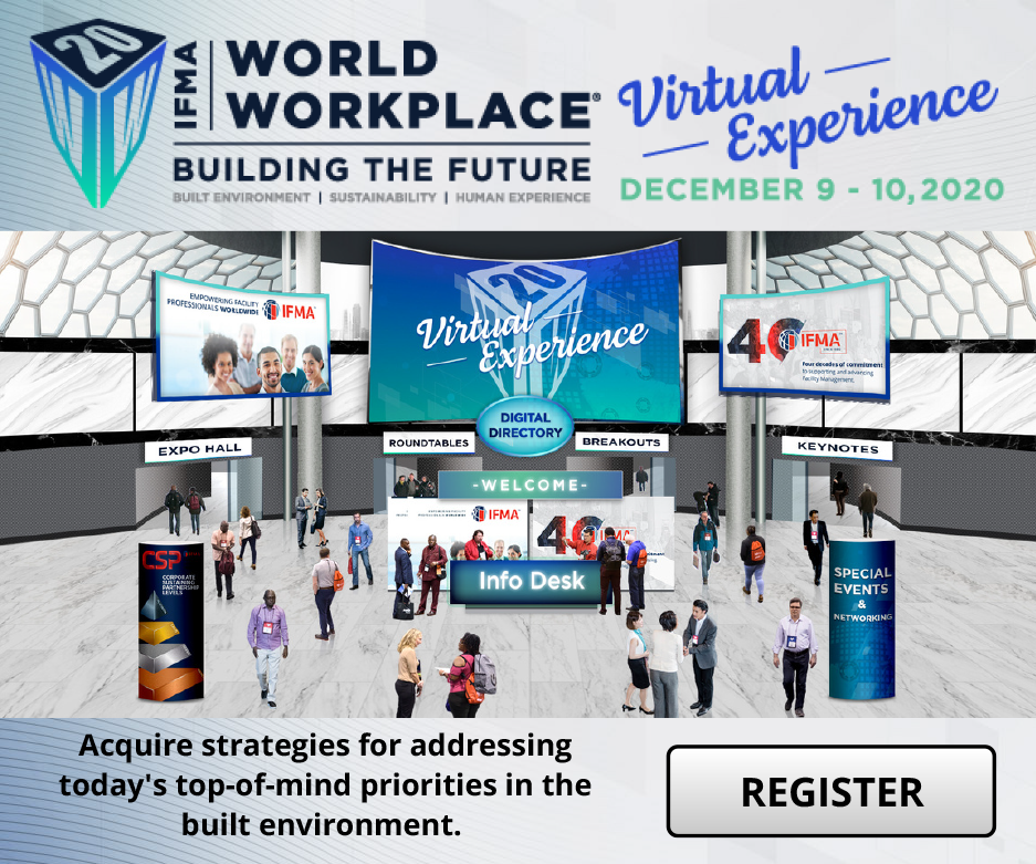 IFMA's World Workplace 2020 Virtual Experience banner