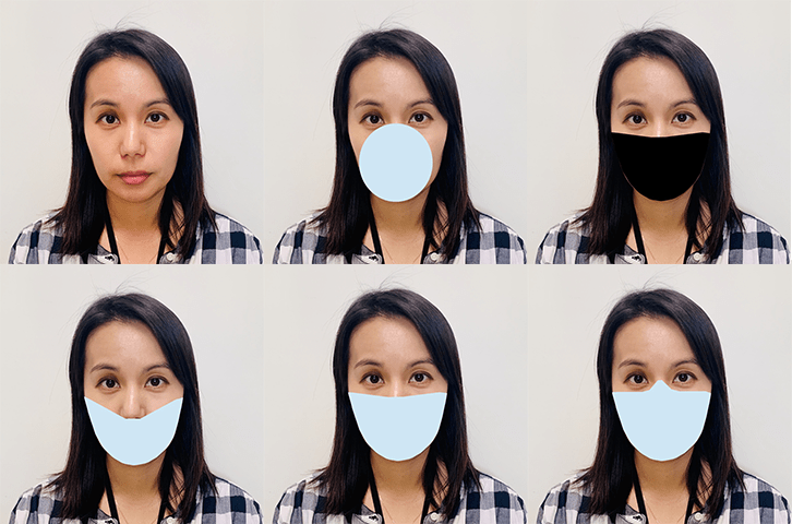NIST used digitally created masks to test the performance of face recognition software developed before COVID