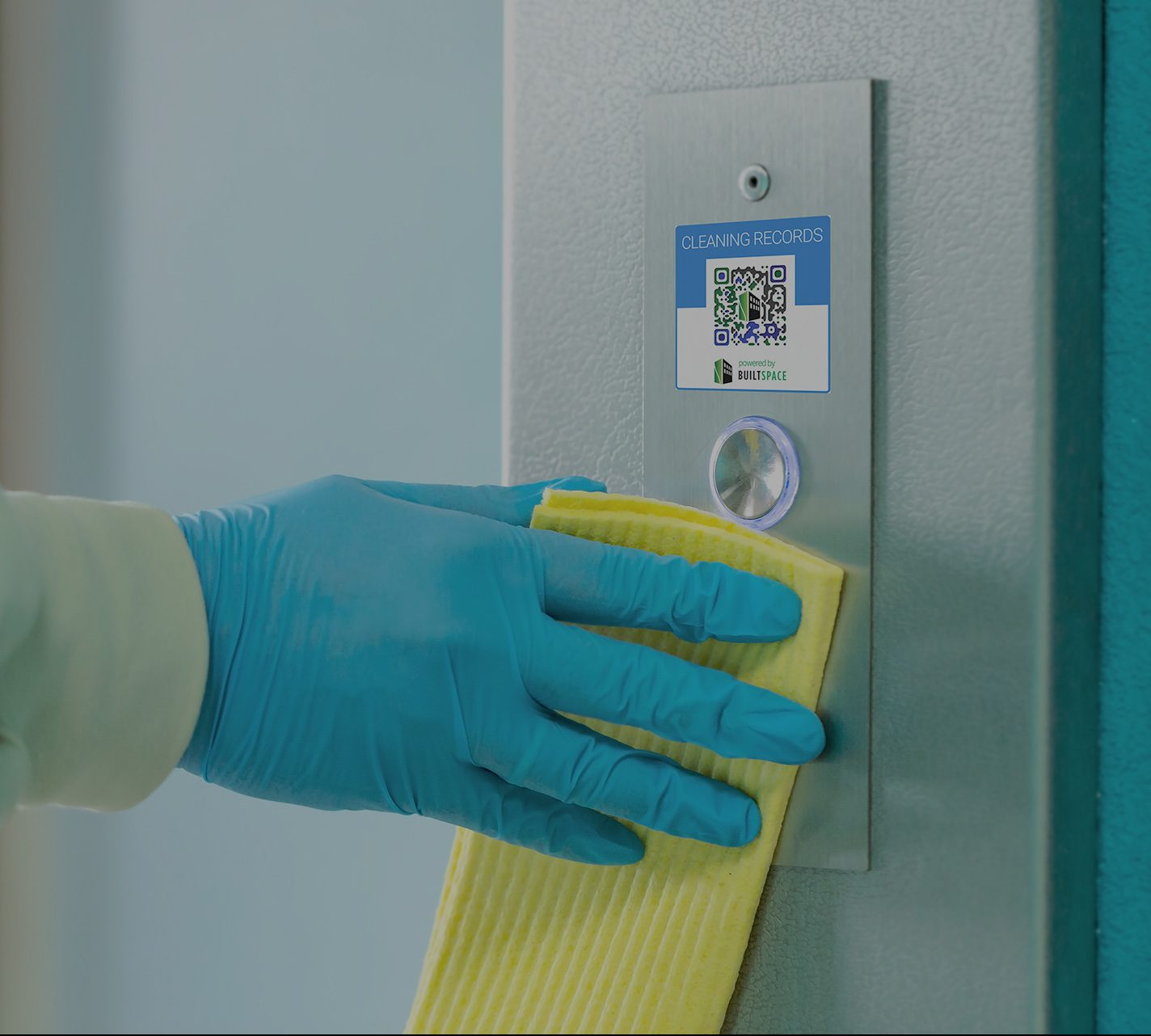 BuiltSpace QR code showing enhanced cleaning
