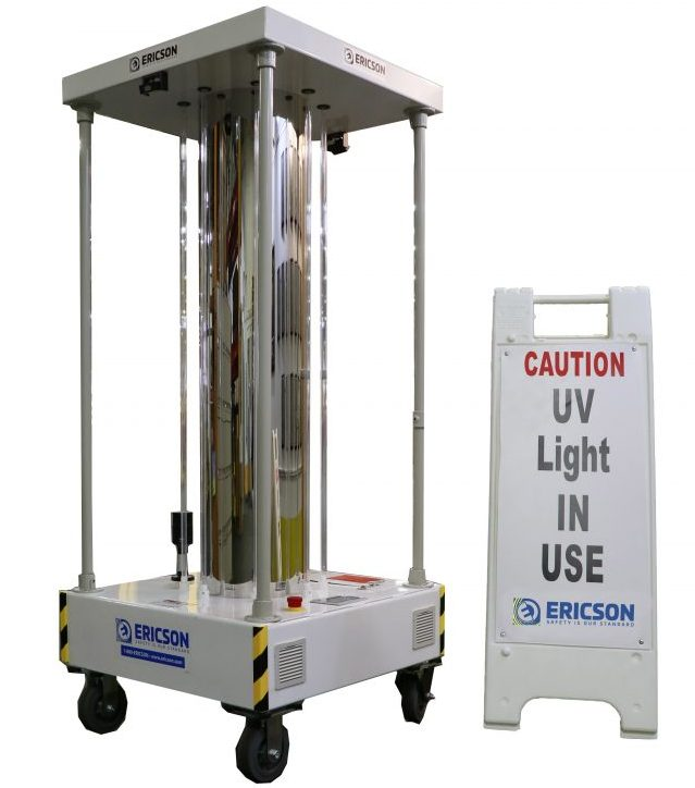 Ericson Manufacturing UV-C Perma-Kleen Cart (PKCART) mobile disinfecting unit