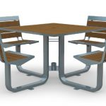 Kebony Picnic Table & Swivel Chairs outdoor furniture