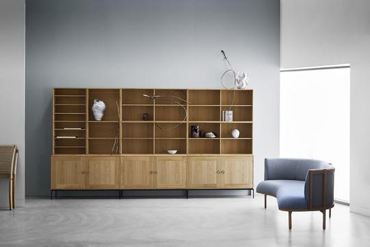 Carl Hansen & Son FK63 Bookcase System and RF1903 Sideways Sofa