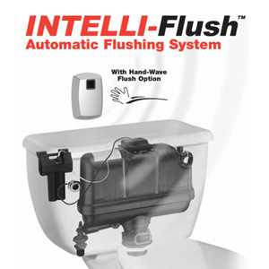 FlushmateIntelliflush touch-free system for pressure-assisted toilets