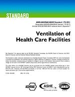 ASHRAE standard for ventilation of healthcare facilities