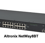 Altronix's new NetWay4BT and NetWay8BT (shown) 802.3bt 4PPoE Managed Midspans