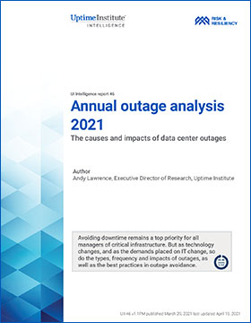 Uptime Institute annual power outage analysis